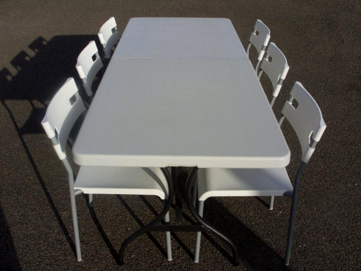 table and six chairs set
